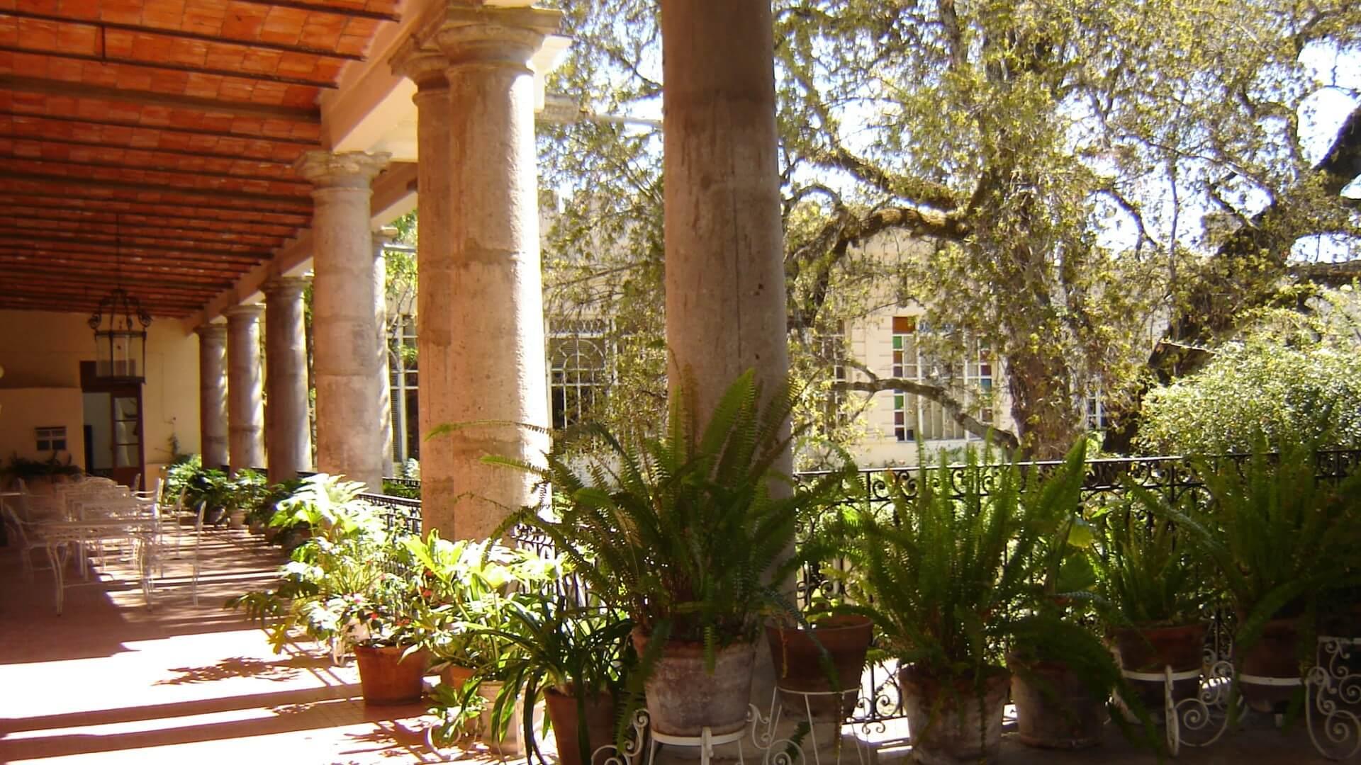 Terraza abierta Museo Hacienda San Cristóbal Polaxtla